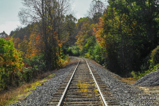 Follow the rails--photo by Bill Land